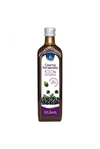 Blackcurrant juice 490ml  /  Sok czarna porzeczka 490ml / Oleofarm