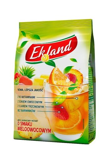 Granulated tea drink drink with multifruits flavour and vitamin C 300g / Granulowany napój herbaciany o smaku wieloowocowym z witaminą C 300g /  Ekland