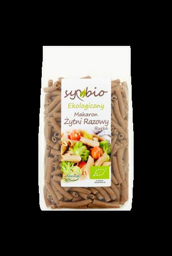 Organic wholemeal rye pasta  - penne 400g / Ekologiczny makaron żytni razowy rurka 400g / Symbio