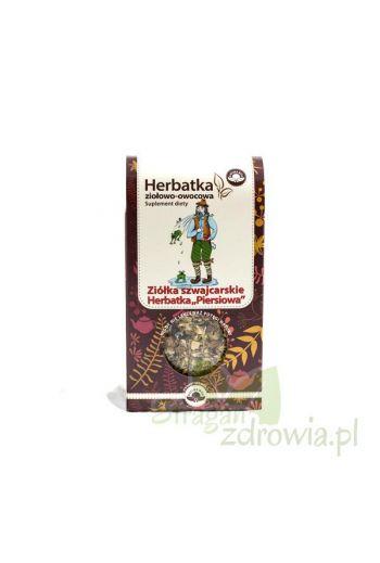 """Tea Swiss Herbs for coughs 75g /Herbatka ziołowo-owocowa """"PIERSIOWA"""" Ziółka Szwajcarskie 75g"""
