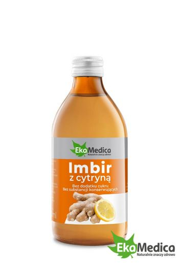 Ginger with lemon 250 ml /Sok Imbir z cytryną 250 ml