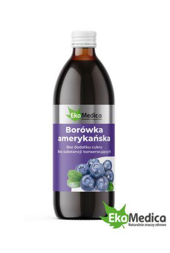 American blueberry  500 ml dietary supplement / Borówka Amerykańska 500 ml suplement diety