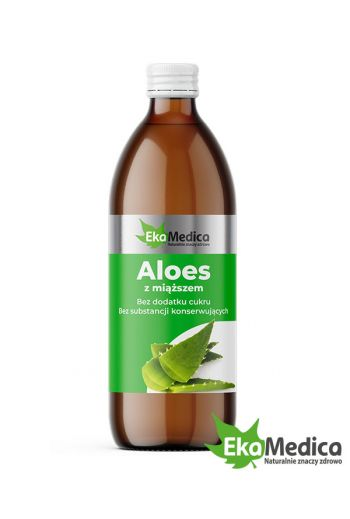 Aloe with pulp 0.5 l dietary supplement /Aloes z miąższem 500 ml suplement diety