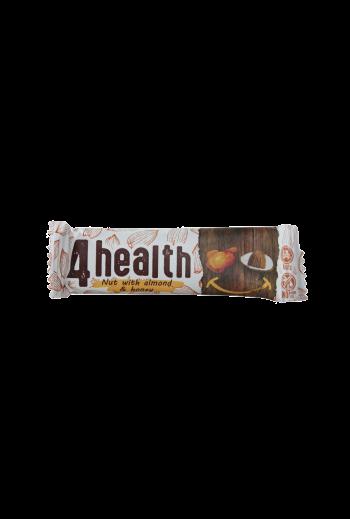 Bar 4 health nut with almond and honey 30g / Baton 4 health orzech z migdałem i miodem 30g (qty in the box 20)