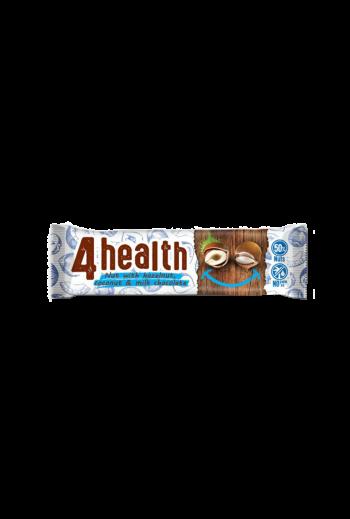 Bar 4 health nut with hazelnut, coconut and milk chocolate 30g / Baton 4 health orzech laskowy, kokos i mleczna czekolada 30g (qty in the box 20)