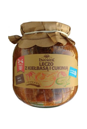 Leczo with sausage and zucchini 720ml / Leczo z kielbasa i cukinia 720ml (qty in box 8)//DWOREK