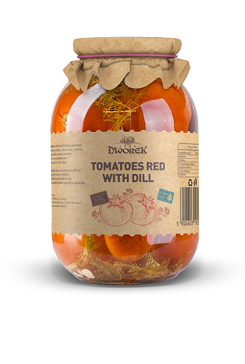 Tomatoes with dill 930ml / Pomidory z koperkiem 930ml  ( qty in box 8)//DWOREK