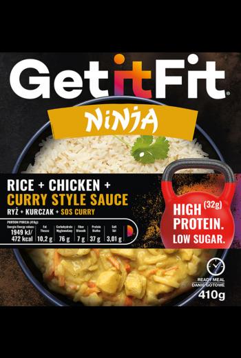 Ninja rice & chicken in curry sauce/ ryż i kurczak w sosie curry