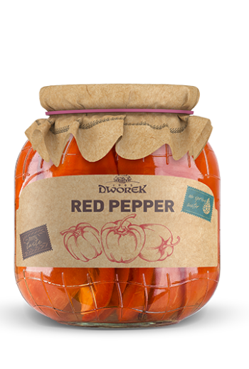 Red pepper - pickled 720ml / Papryka czerwona konserwowa 720 ml ( qty in box 8)//DWOREK