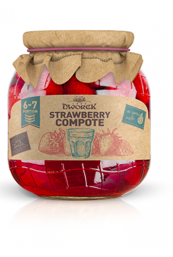 Strawberry Compote 720ml / Kompot truskawkowy 720ml ( qty in box 8)//DWOREK
