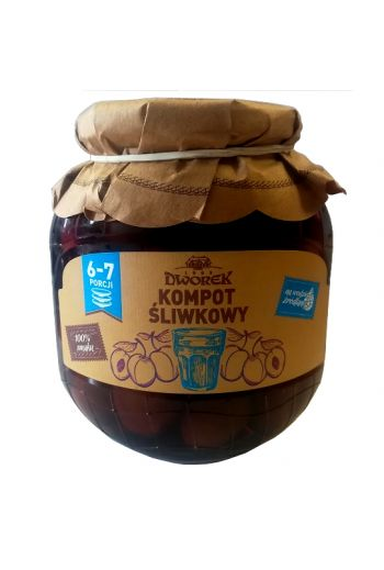 Compote from Hungarian plum 720ml / Kompot sliwkowy 720ml ( qty in box8)//DWOREK