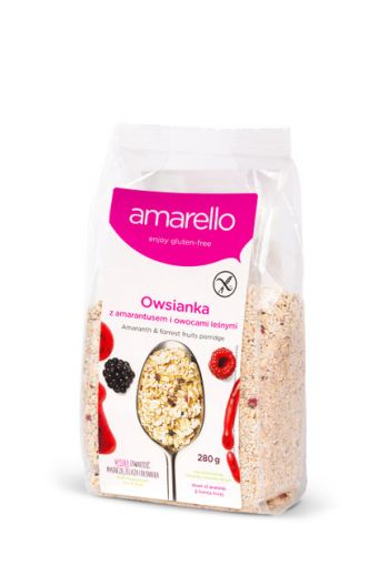 Amarello Owsianka z amarantusem i owocami leśnymi