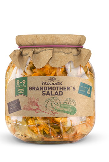 Grandmothers salad 720ml / Salatka babuni 720ml ( qty in box 8)//DWOREK