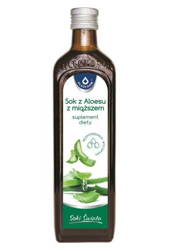 Aloe juice with pulp 0.5l / Sok z aloesu z miąższem 0.5l / Oleofarm