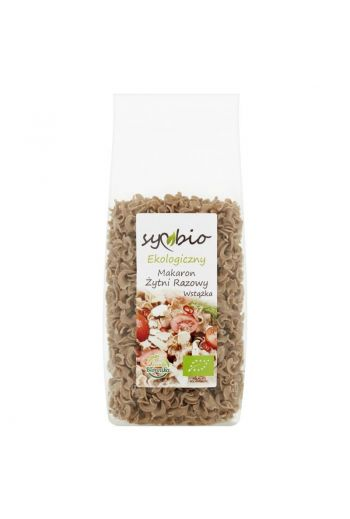 Organic wholemeal rye pasta  - ribbon 400g / Ekologiczny makaron żytni razowy wstążka 400g / Symbio
