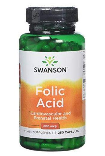 Folic acid 250 caps / Swanson