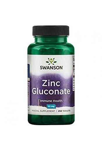 Zinc Gluconate 30mg 250 caps / Swanson