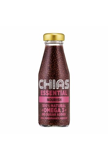 Chias essential chia pomegranate hibiscus 200ml /  Napoj chias essential granat hibiskus 200ml / (qty in the box 8) Chias