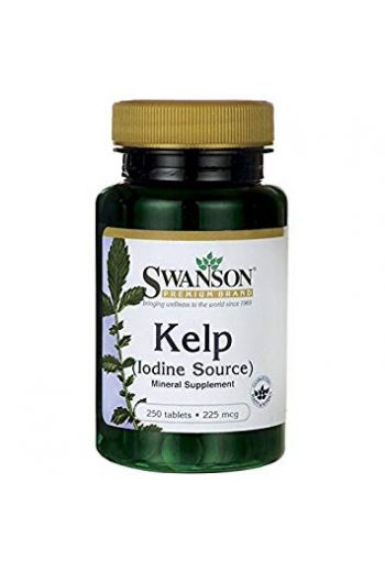 Kelp - iodine source 250 tabs 225mg SWANSON
