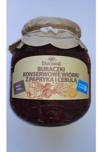 Beets with onions and peppers 720ml / Buraczki z cebula i papryka 720ml( qty in box 8)//DWOREK