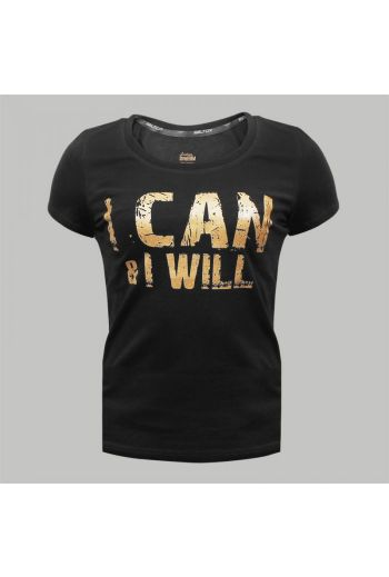 """Beltor T-shirt Girl Slim  """"I CAN AND I WILL"""""""