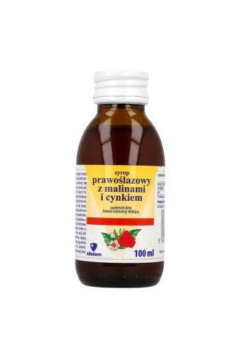 Marshmallow syrup, with raspberries and zinc, 100 ml / Syrop prawoślazowy, z malinami i cynkiem, 100 ml