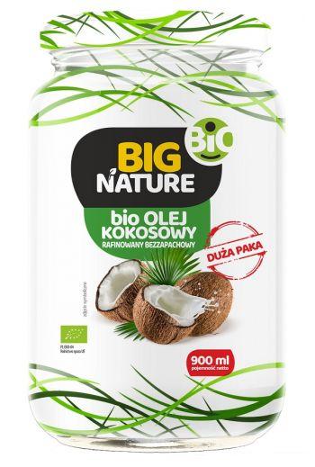 Big Nature Bio Coconut oil refined /Big Nature Bio Olej kokosowy rafinowany  900ml