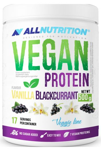 Vegan Protein Vanilla Blackcurrant 500g / AN