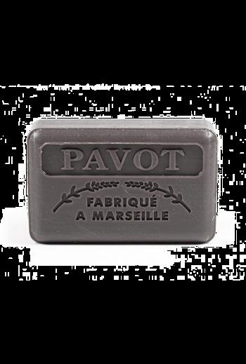 Marseille soap - Poppy seed with shea butter (opium scent) 125 g /Mydło marsylskie 125g mak z masłem shea
