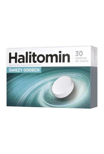 Halitomin, lozenges, 30 pcs / HALITOMIN SWIEZY ODDECH TABLETKI DO SSANIA 30 SZT