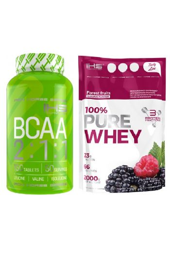IHS - 100% Pure Whey Tasty Line 2000g + FREE BCAA 2:1:1