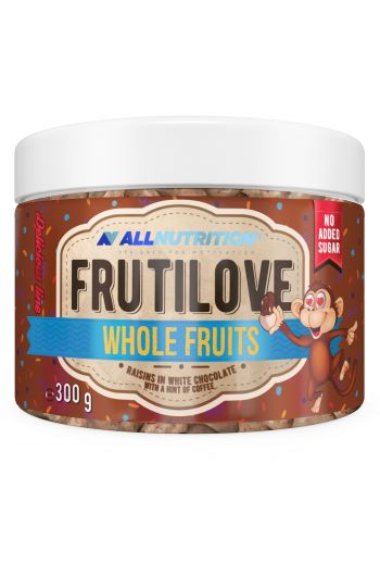 FruitLove whole raisins in white chocolate with hint of coffee 300g