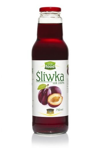 Plum juice 100% 750ml / Sok ze śliwki 100% 750ml (qnt in box 6)  /LOOK FOOD