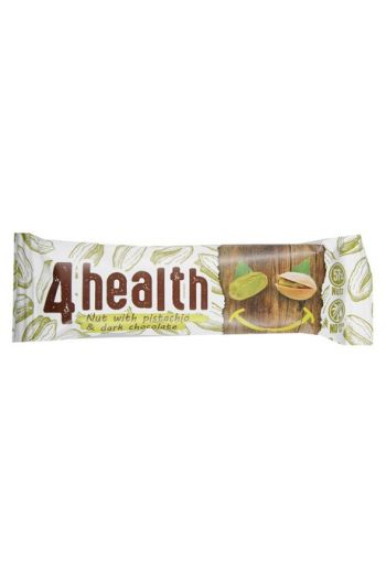 Bar 4 health nut with pistachio and dark chocolate 30g / Baton 4 healt orzech z pisatcją i ciemną czekoladą 30g (qty in the box 20)