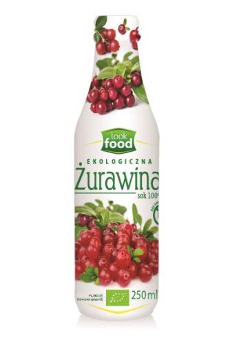 Organic cranberry juice 100% 250ml / Sok z żurawiny ekologiczny 100% 250ml   /LOOK FOOD