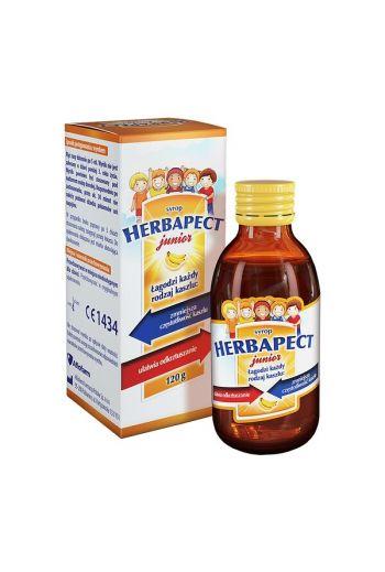 Herbapect Junior, banana-flavored syrup, 120 g / HERBAPECT JUNIOR O SAMU BANANOWYM SYROP 120G