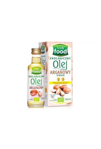 Organic argan oil 100%  100ml / Olej arganowy ekologiczny 100% 100ml (qty in box 6) /LOOK FOOID