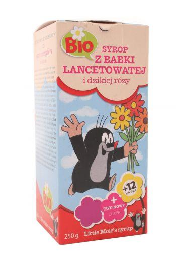Syrup for Children with Plantain and Wild Rose BIO 250 g/Syrop dla dzieci z babki lancetowatej i dzikiej róży