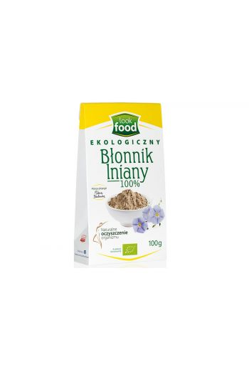 Organic  fiber flaxseed 100% 100g / Błonnik lniany 100% 100g (qty in box 14)/ LOOK FOOD