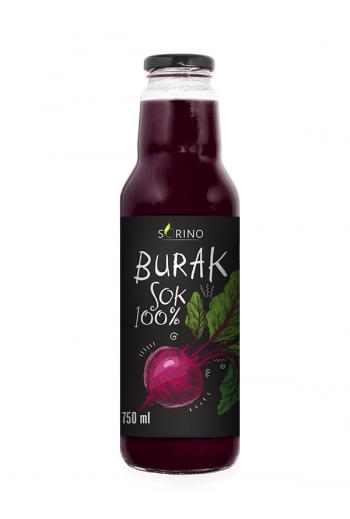 Beetroot juice 100% 750ml Sorino / Sok burak 100% 750 ml Sorino