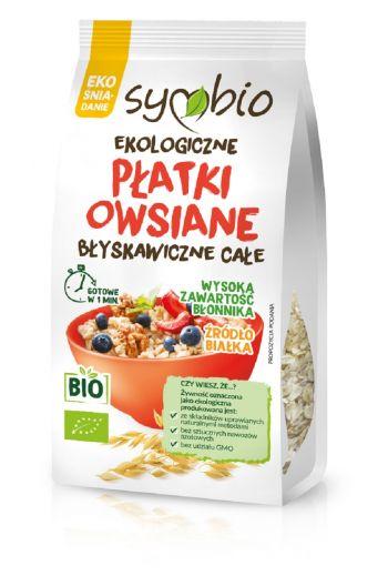 Organic instant oat flakes - whole 300g / Ekologiczne płatki owsiane błyskawiczne całe 300g / Symbio
