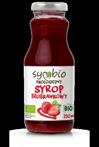 Organic strawberry syrup 250 ml  / Ekologiczny syrop truskawkowy 250 ml / Symbio