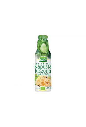 Organic sauerkraut juice 100% 750ml / Sok z kapusty kiszonej 100% 750ml   /LOOK FOOD