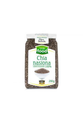 Chia seeds 100% 250g / Chia nasiona 100% 250g ( qty in box 14)//LOOK FOOD