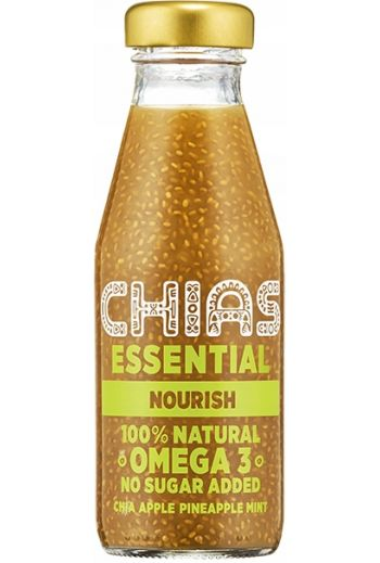 Chias essential chia apple pineapple mint  200ml /  Napoj chias essential jabłko ananas mieta 200ml / (qty in the box 8) Chias
