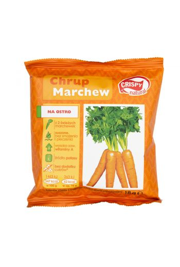 Crispy natural spicy carrot crisps  18G/ Chipsy z marchwi na ostro 18g