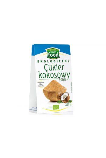 Organic Coconut sugar 100% 250g / Cukier kokosowy ekologiczny 100% 250g (qnt in box 8)  /LOOK FOOD