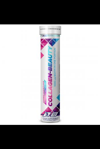 Collagen-Beauty 20 tabletek musujących o smaku truskawkowo-rabarbarowym/ Collagen-beauty 20 effervescent tablets strawberry- rhubarb