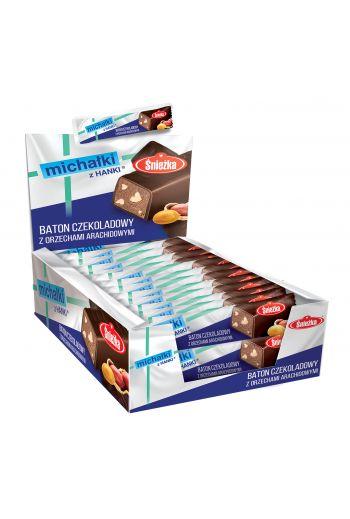 Michałki z Hanki baton/ Chocolate bar with peanuts 30g 36 bars