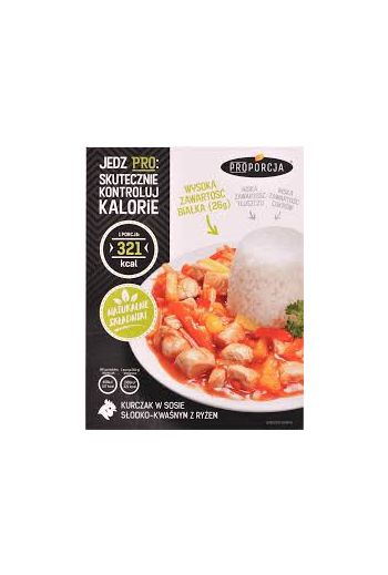 Chicken in sweet and sour sauce with rice 300g